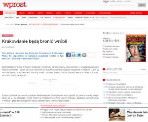 http://www.wprost.pl/ar/351519/Krakowianie-beda-bronic-wrobli/